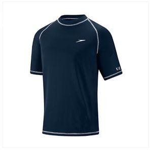 Speedo Easy Short Sleeve Swim Shirt in New Navy